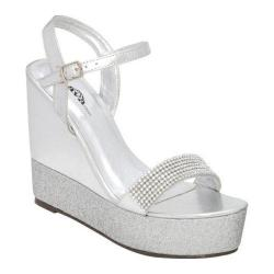 Women's Lava Shoes Lisa Silver Metallic/Silver Glitter