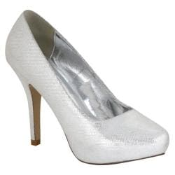 Women's Lava Shoes Sasha Silver Metallic Polyurethane