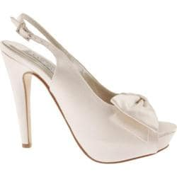 Women's Liz Rene Cheri White Silk Satin