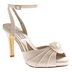 Women's Liz Rene Rose White Silk Satin