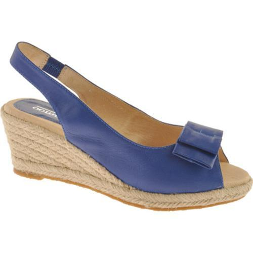 Women's Oomphies Lady Bow-Tie Blue Leather