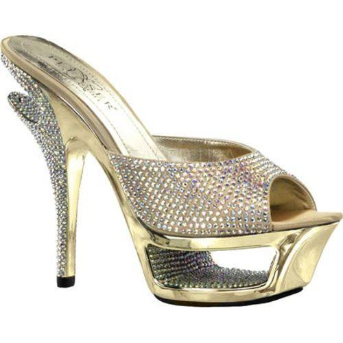 Women's Pleaser Day & Night Deluxe 601RS Gold Satin