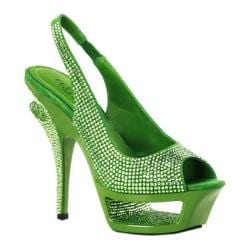 Women's Pleaser Day & Night Deluxe 654RS Green Suede