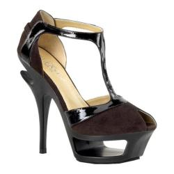 Women's Pleaser Day & Night Deluxe 682 Brown Suede/Patent