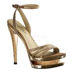 Women's Pleaser Day & Night Fascinate 637DM Rose Gold Suede/Rose Gold Chrome