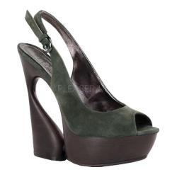 Women's Pleaser Day & Night Swan 654 Olive Suede