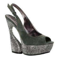 Women's Pleaser Day & Night Swan 654DM Olive Suede