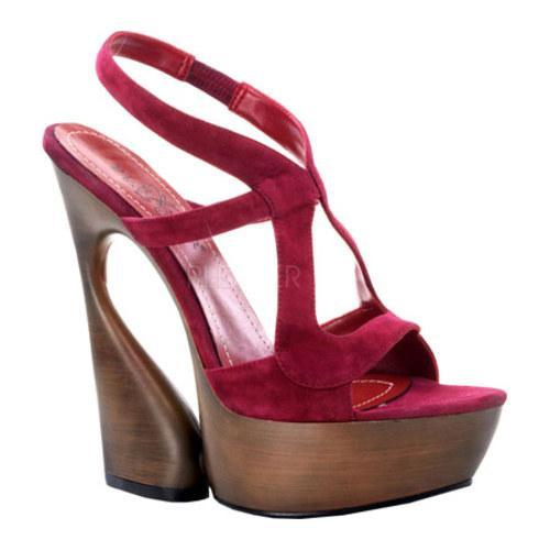 Women's Pleaser Day & Night Swan 657 Burgundy Suede