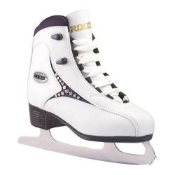 Women's Roces 543 Softboot Figure Skate White/Black Diamond
