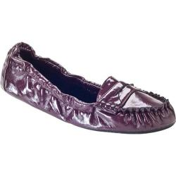 Women's Tash Folds Working Girl Maroon Patent