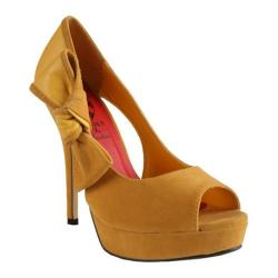 Women's Wild Diva Orchid-3 Yellow Faux Suede
