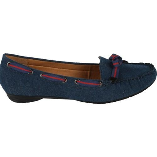 Women's Wild Diva Poma-01 Blue Faux Suede
