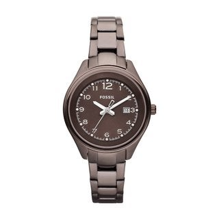 Fossil Women's Brown Stainless Steel Flight Watch