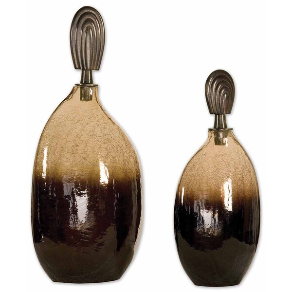 Uttermost Ochroid Glass Canisters (Set of 2)