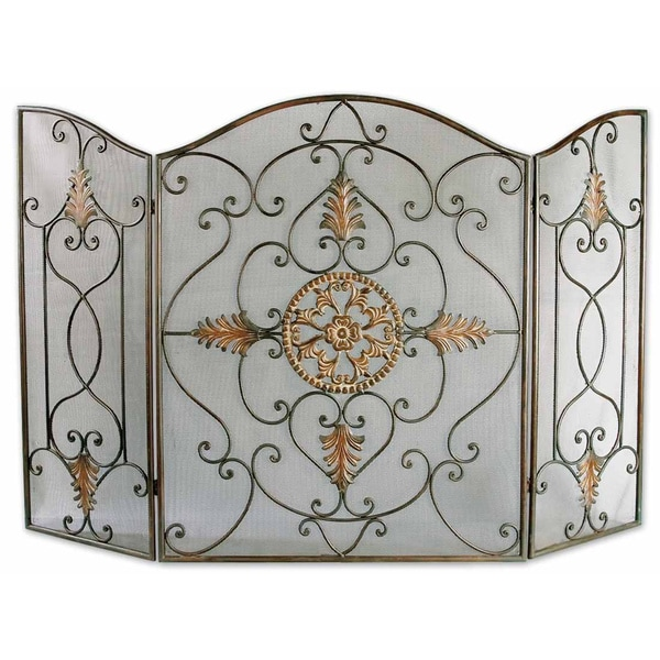 Uttermost Egan Iron Fireplace Screen