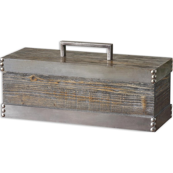 Uttermost Lican Distressed Silver Box