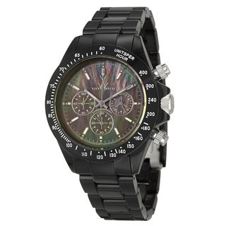 ToyWatch Men's 'Plasteramic' Black-Dial Tachymeter Watch