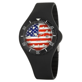 ToyWatch Men's Flag Plastic 'Jelly' Diver Watch
