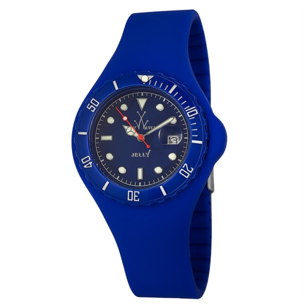 ToyWatch Men's Blue Plastic 'Jelly' Diver Watch