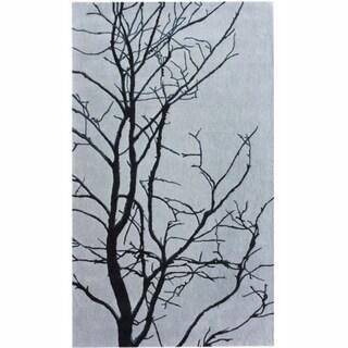 nuLOOM Handmade Grey Tree Branch Wool Rug