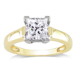 Miadora Signature Collection 14k Gold 1 1/2ct TDW Certified Diamond Solitaire Ring (G-H, I1-I2)
