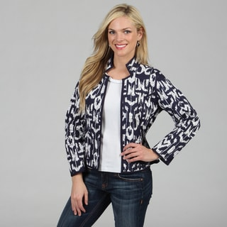 Women's French Blue Mackinaw Reversible Jacket