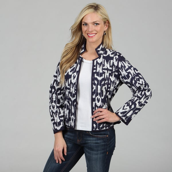 Women's French Blue Mackinaw Reversible Jacket