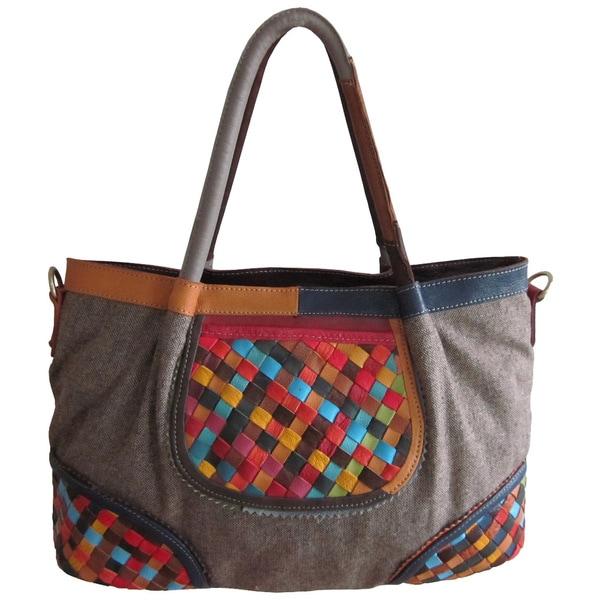 Amerileather Nevil Leather Tote Bag