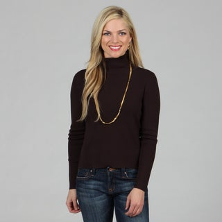 Madison Park Women's 'Turtle Dove' Espresso Turtleneck Top