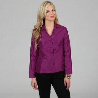 Celebrating Grace Women's Raspberry Kay Topper Blouse