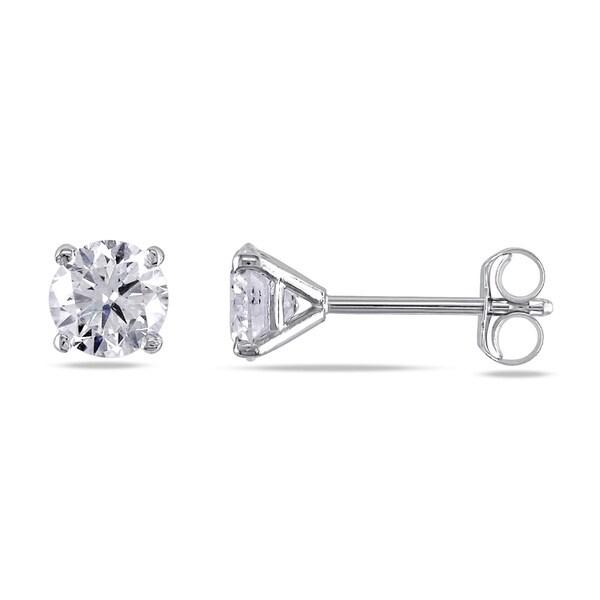Miadora 14k White or Yellow Gold 1ct TDW Certified Diamond Stud Earrings (G-H, SI1-SI2)