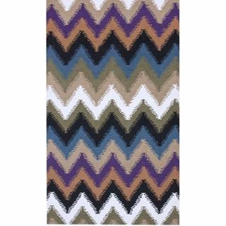 nuLOOM Handmade Chevron Wool Rug