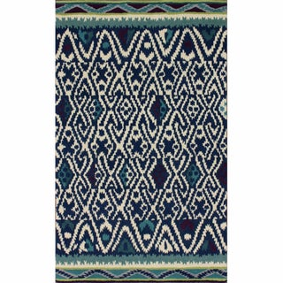 nuLOOM Handmade Country Blue Wool Rug