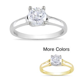Miadora 14k Gold 1ct TDW Certified Diamond Solitaire Ring (G-H, SI1-SI2)