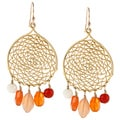 Charming Life Vermeil Carnelian Dream Catcher Hook Earrings