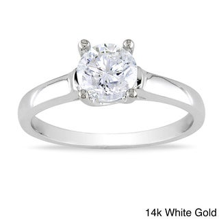 Miadora 14k Gold 1ct TDW Diamond Solitaire Engagement Ring (H-I, I2-I3)
