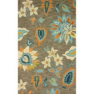 nuLOOM Handmade Floral Wool Rug