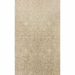 nuLOOM Handmade Natural Spanish Tiles Wool Rug