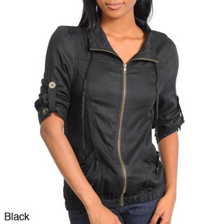 Stanzino Women's Jacket Top with Rolled Up Sleeve