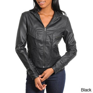 Stanzino Women's Slim Fit Leather Look Jacket