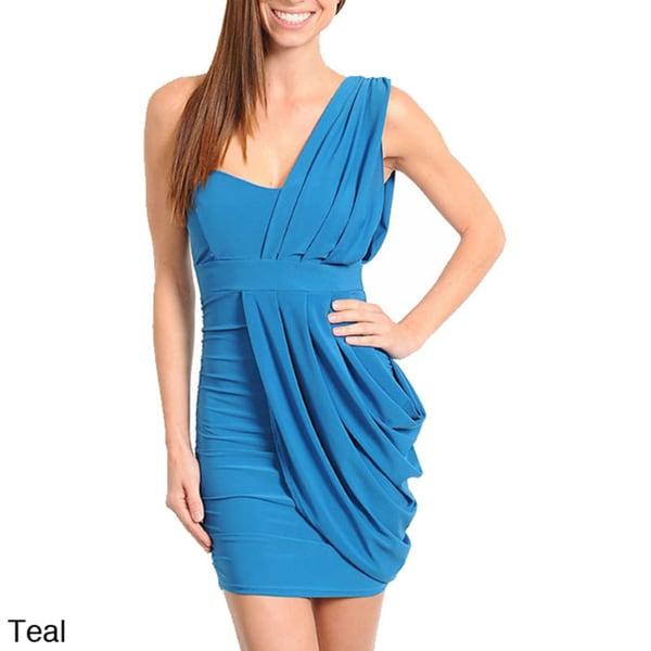 Stanzino Women's 'Grecian' One Shoulder Cocktail Dress
