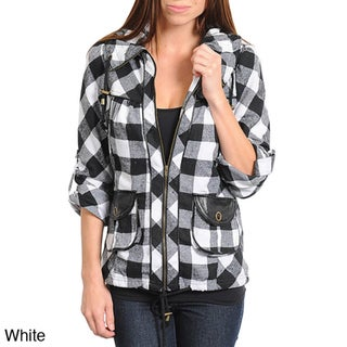 Stanzino Women's Checkered 3/4 Sleeve Jacket