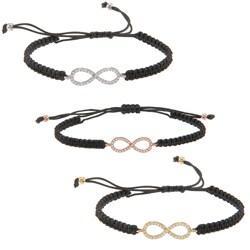 La Preciosa Sterling Silver CZ Infinity Macrame Bracelet