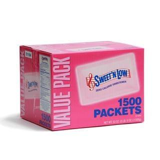 Sweet'N Low Zero Calorie Sweetener Packets (Case of 1,500)