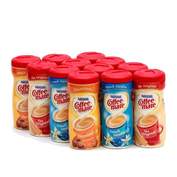 Coffee-Mate Variety Pack Creamer Canisters (Pack of 12)