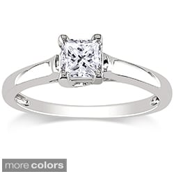 Miadora 14k Gold 1/2ct TDW Certified Diamond Solitaire Ring (G-H, I1-I2)