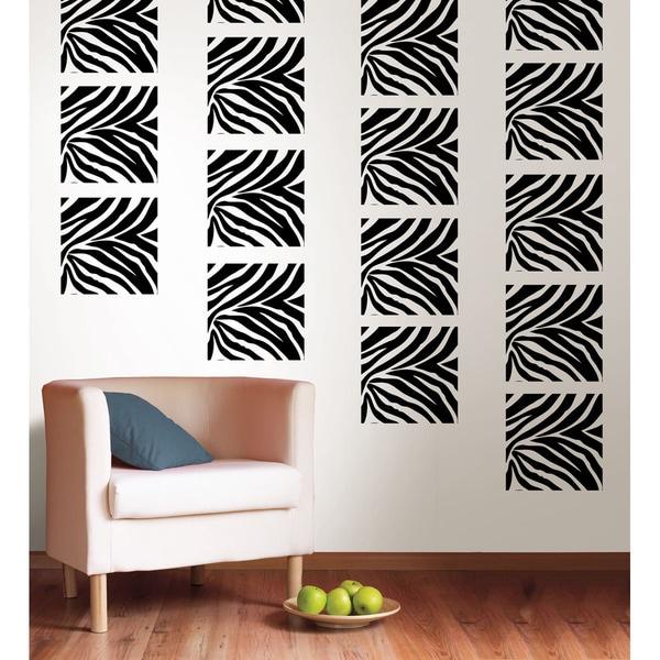 WallPops Go Wild Zebra Print Blox Decal Pack