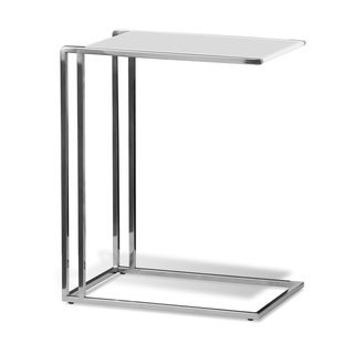Madison Park White Lacquer Side Table