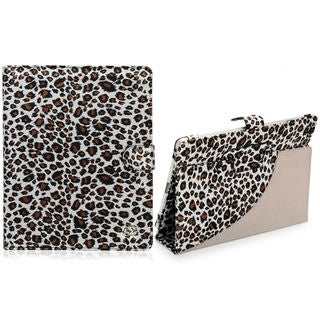 Stylish Apple iPad 4 Leopard Print Stand Case