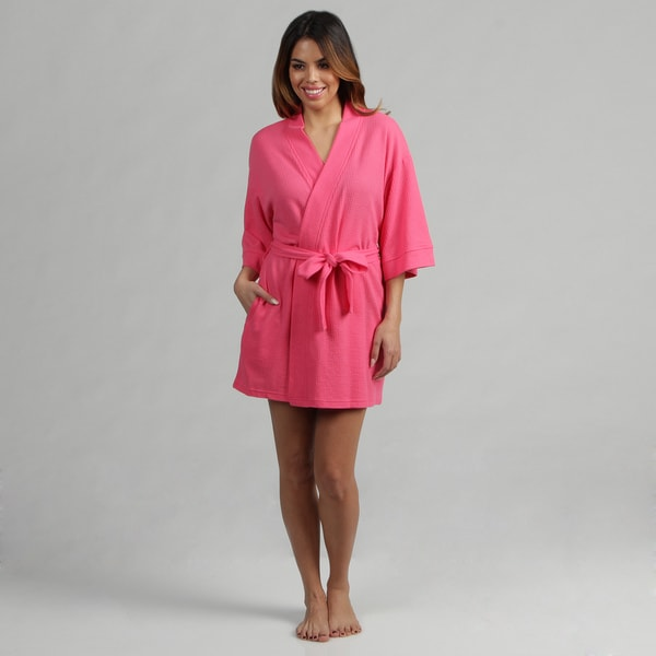 Aegean Apparel Fuchsia Women's Lightweight Robe